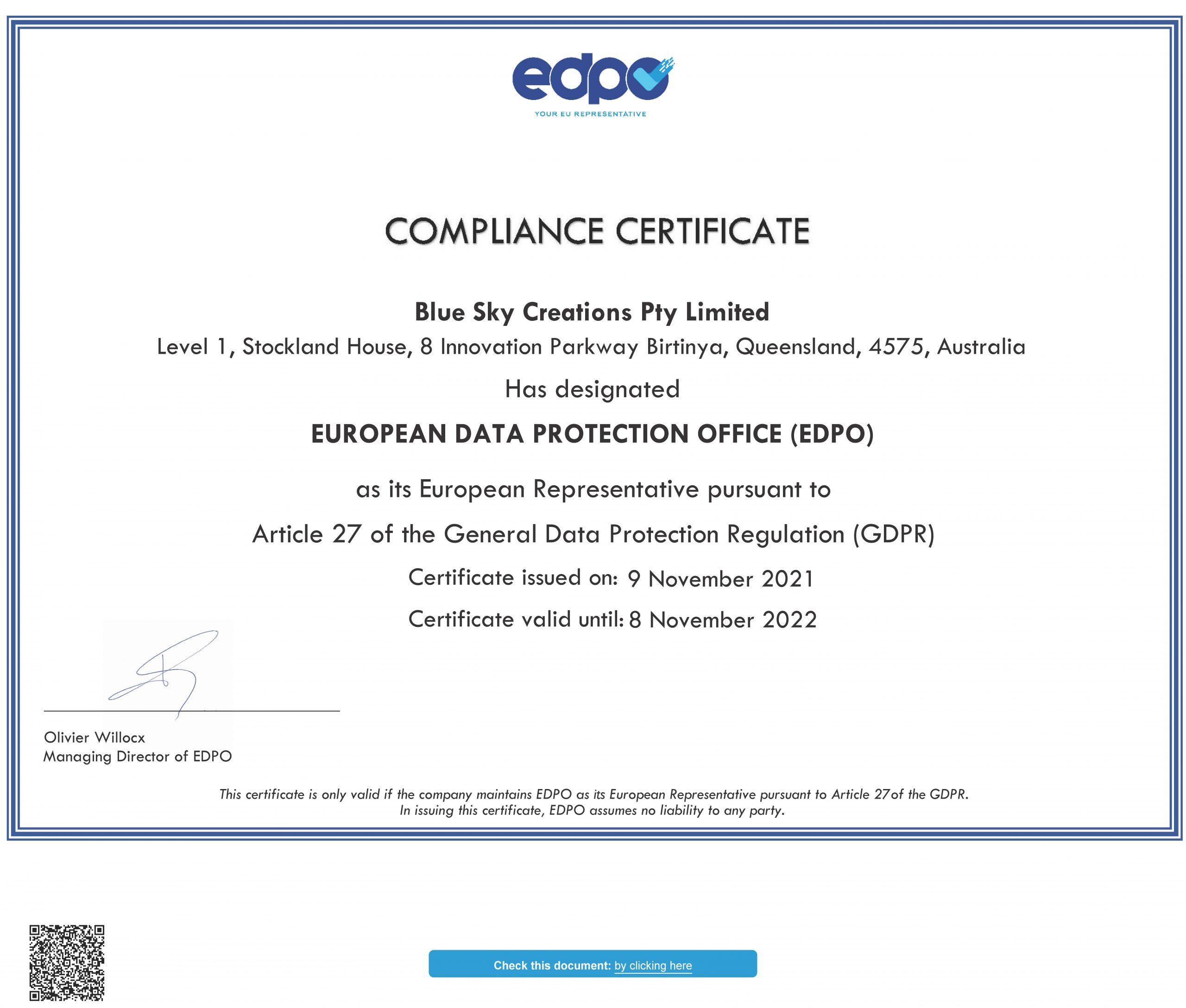 blue_sky_creations_pty_limited_compliance_eu_representative_compliance_certificate